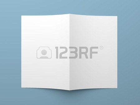 Top View Of Blank Folded Flyer, Booklet, Business Card Or Brochure ...