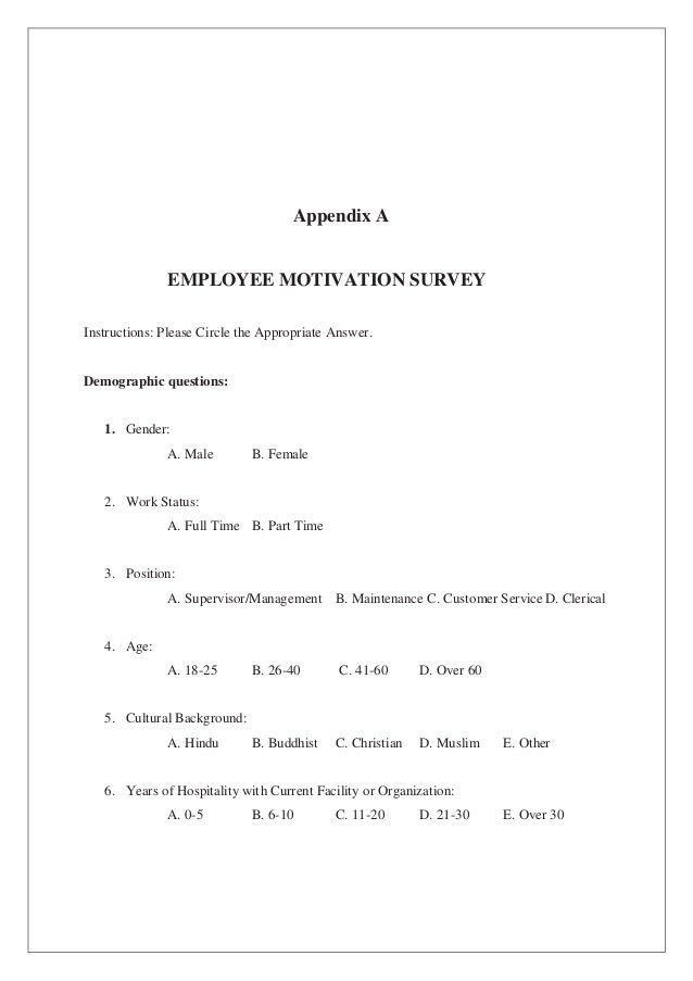 FACTORS AFFECTING EMPLOYEE'S MOTIVATION IN …