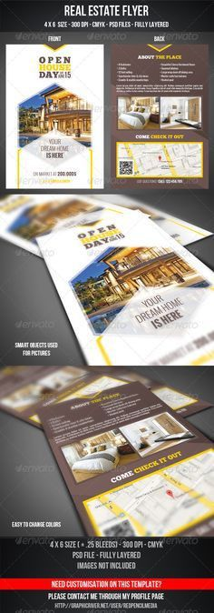 Real Estate Flyer / Magazine AD | Real estate flyers and Magazine ads