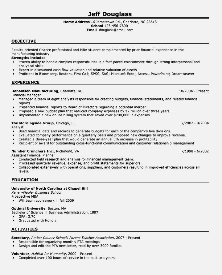 Example Of First Time Job Resume Criminology | Resume Template ...