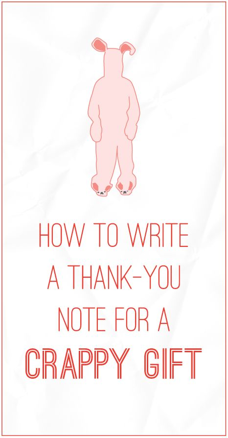 How to write a thank-you note for a crappy gift - Red Letter Paper ...