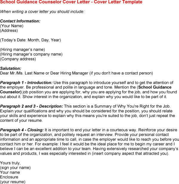 Counselor Cover Letters