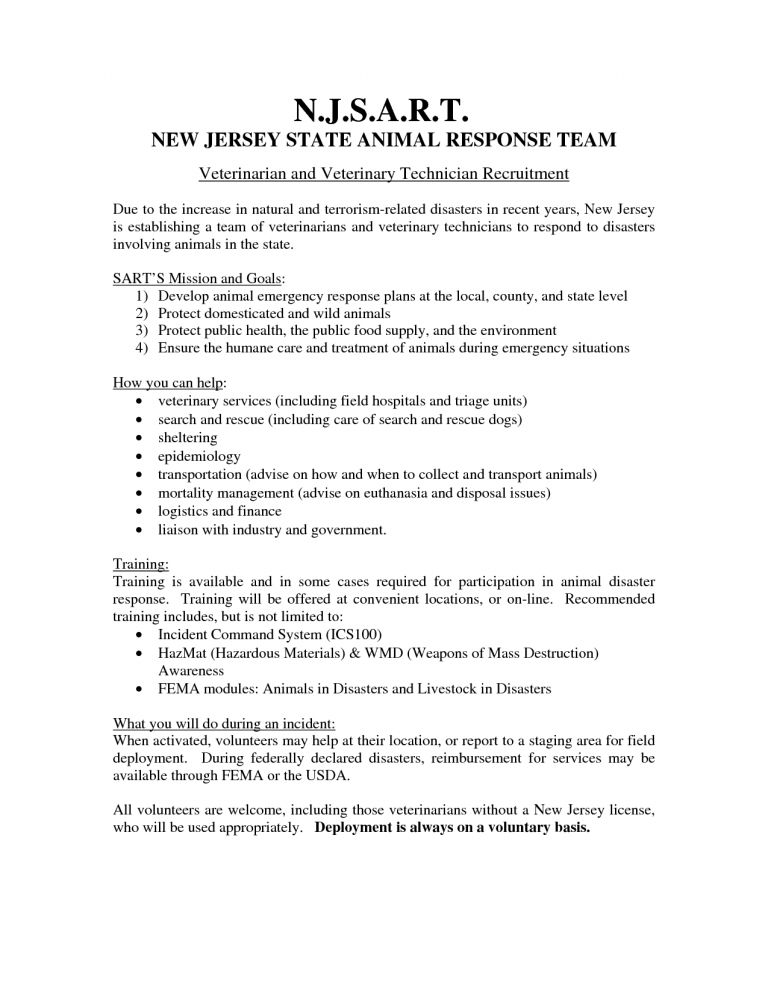Sweet Inspiration Veterinary Technician Resume 13 Resume ...
