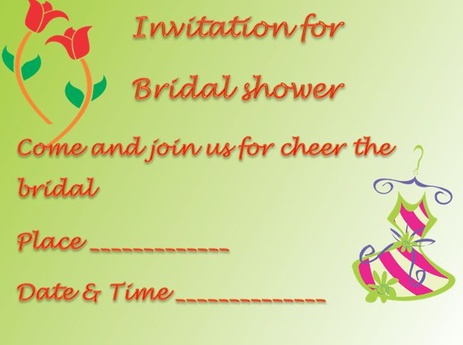 Bridal Shower Invitation Template - Microsoft Word Templates
