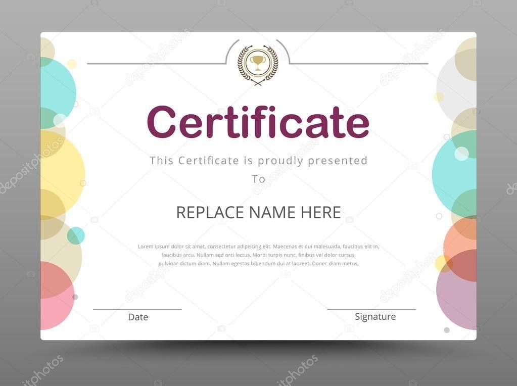 Elegant certificate template. Business certificate formal theme ...