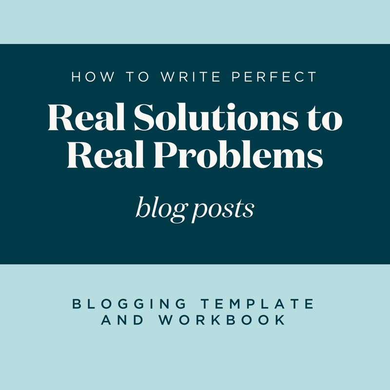 Blogging Template and Workbook: Perfecting Real Solutions to Real ...