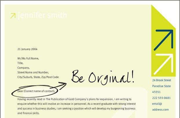 Cover Letter Ideas - My Document Blog