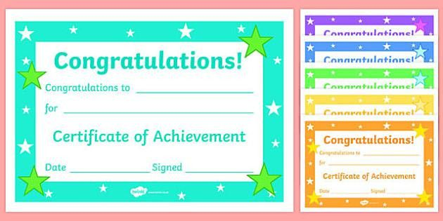 Certificates & Awards - Printable Certificates for - Page 1