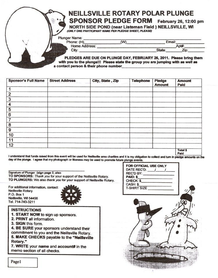 Polar Plunge Pledge Form