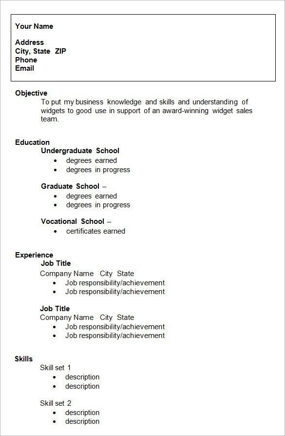 Download Resume For College | haadyaooverbayresort.com