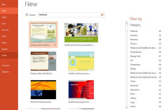 New Templates in Microsoft PowerPoint 2013 (Office 15)
