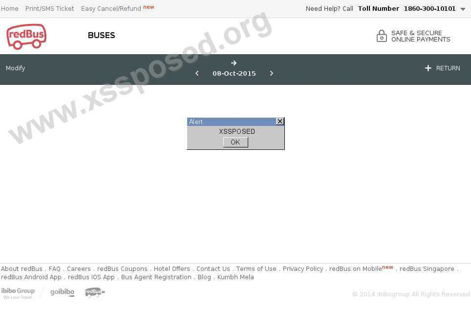 redbus.in XSS vulnerability | Open Bug Bounty | Website ...