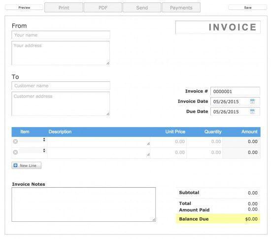 Free Aynax Printable Invoice Template