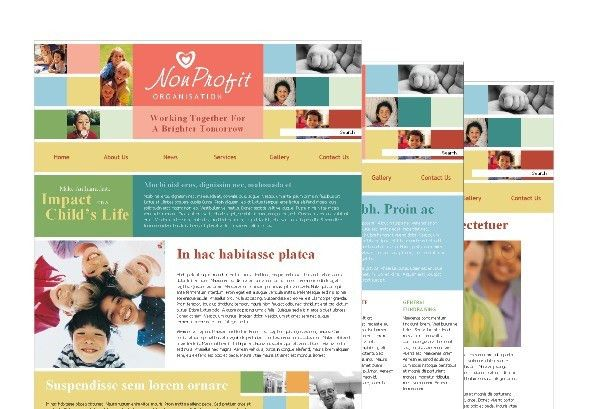Non Profit Association For Children Template Pack from Serif.com