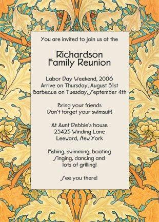 reunion invitations