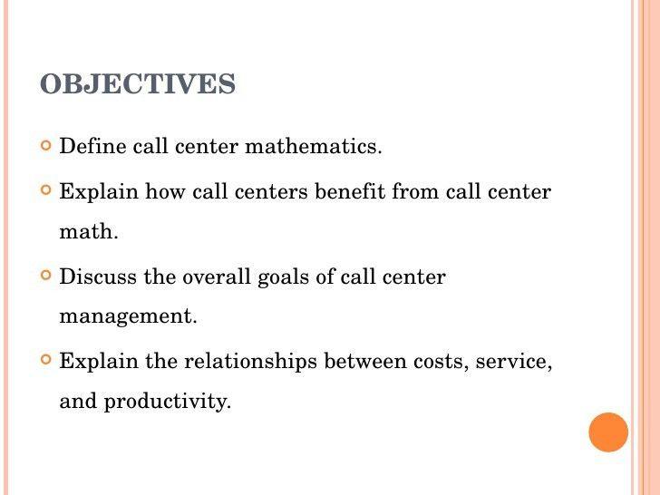 Call Center Mathematics