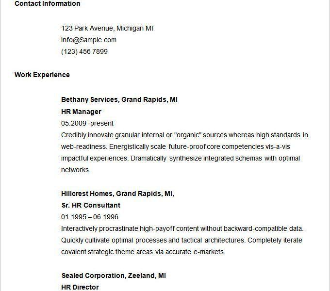 Easy Resume Example. Easy Resume Examples Easy Resume Example ...