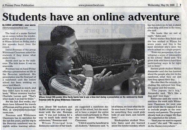Newspaper article essays