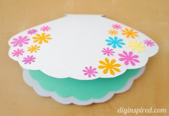 DIY Little Mermaid Card or Invitation - DIY Inspired