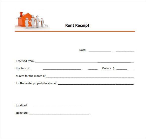 6 Free Rent Receipt Templates - Excel PDF Formats