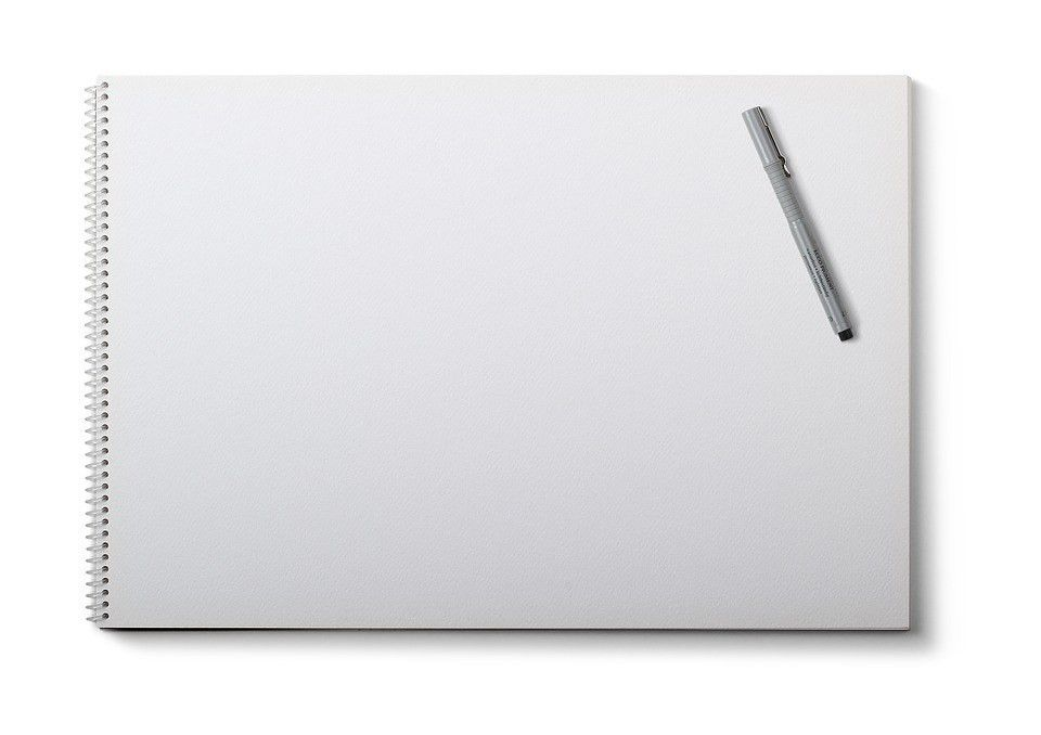 Free photo Note Pad White Background Pen Drawing Pad Blank - Max Pixel