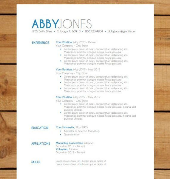 Trendy Inspiration Instant Resume Templates 13 Instant Resume ...