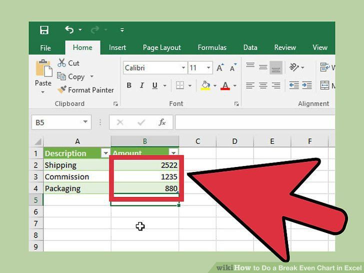 How to Do a Break Even Chart in Excel (with Pictures) - wikiHow