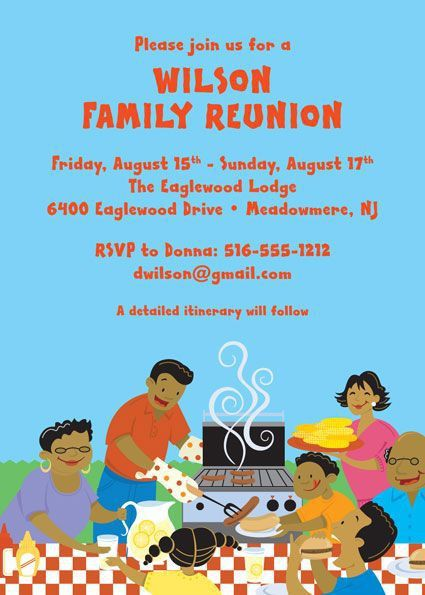Free Printable Family Reunion Invitations | Family Reunion Party ...