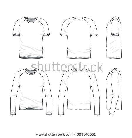 Vector Clothing Templates Blank Tshirt Sweatshirt Stock Vector ...