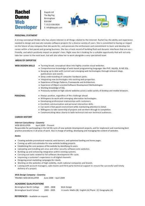 Download Web Design Resume | haadyaooverbayresort.com