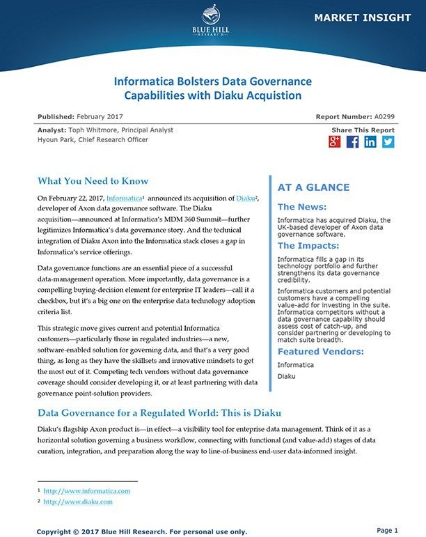 Informatica Bolsters Data Governance Capabilities with Diaku ...
