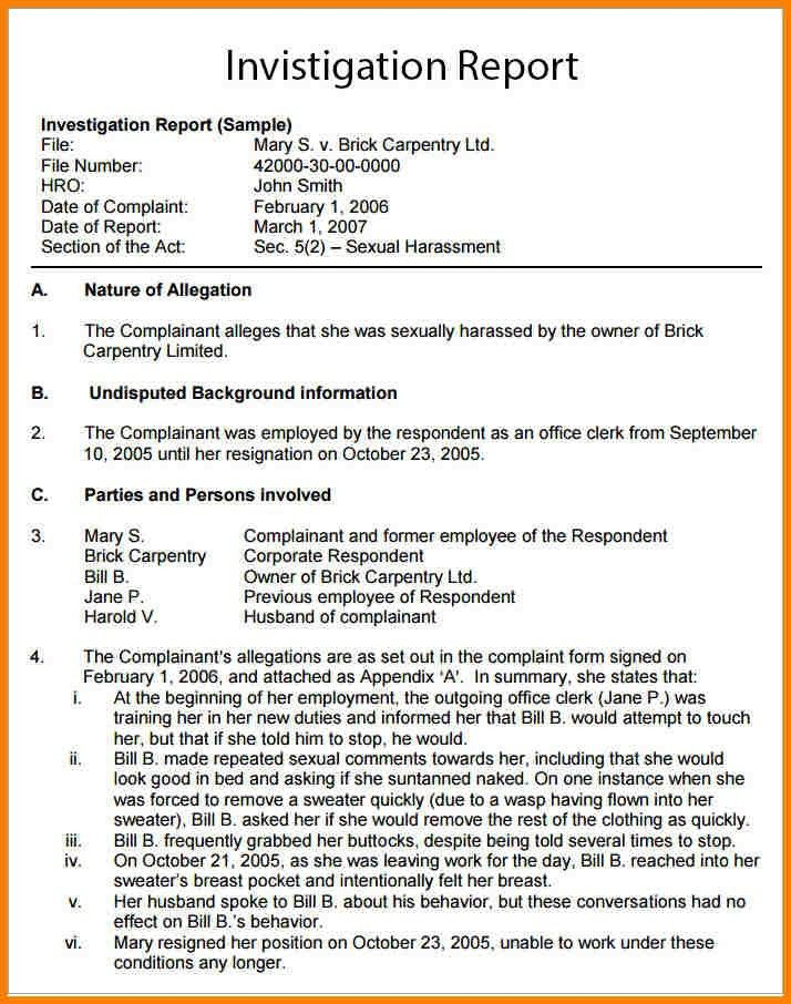 13+ investigative report example | monthly bills template