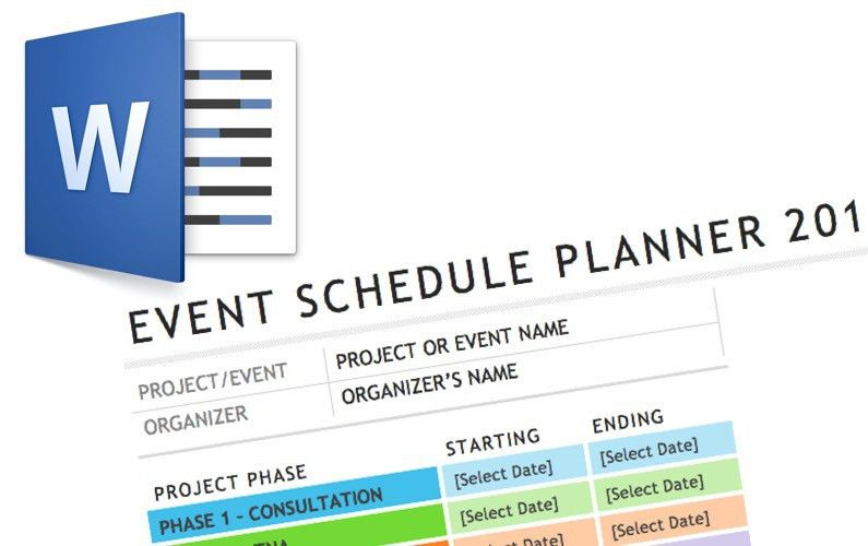 Video: Word Event Schedule Template | Elaine Giles