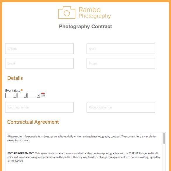 Photography Forms & Templates | Formstack