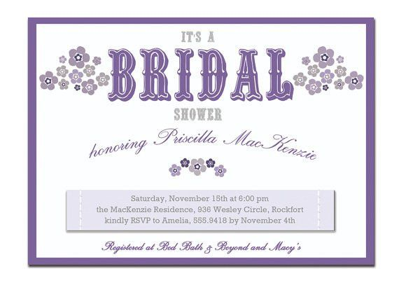 Purple Bridal Shower Invitations – gangcraft.net