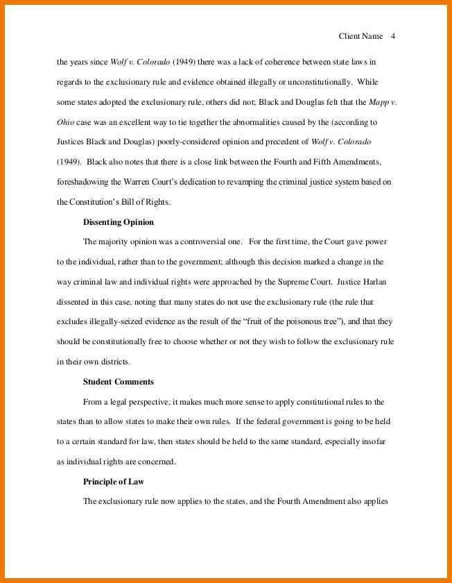 6+ legal brief format | postal-carrier