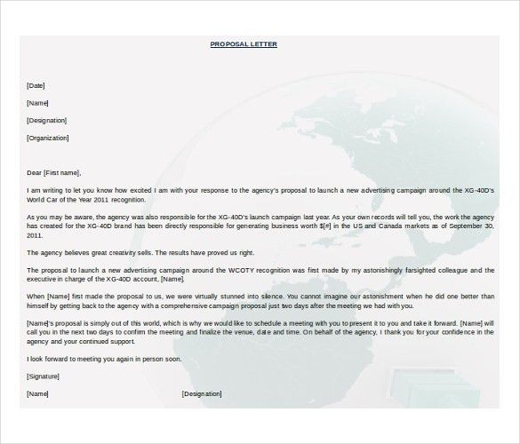 Business Proposal Template Microsoft Word | business letter template