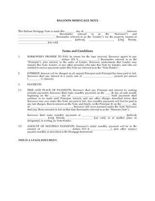Florida Mortgage Forms | Legal Forms and Business Templates ...