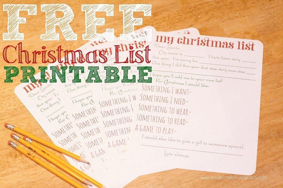Simplifying Christmas | Free Christmas List Printable » New ...
