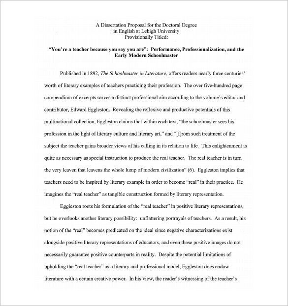 Dissertation Proposal Template – 14+ Free Sample, Example, Format ...