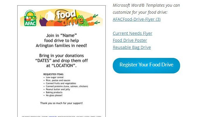 5 Canned Food Drive Flyer Templates | AF Templates