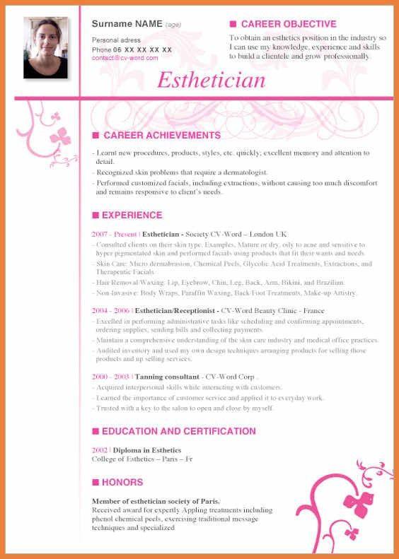 Esthetician Resume | haadyaooverbayresort.com