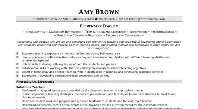 High School Math Teacher Resume Template. primary school teacher ...
