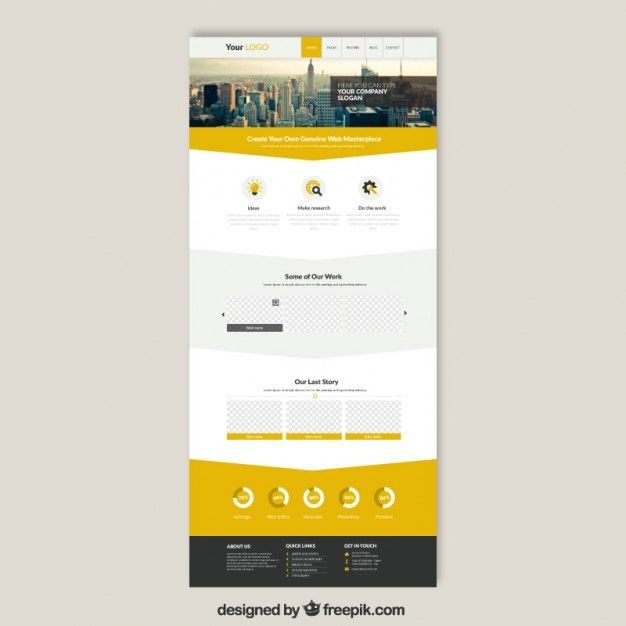 Skyscrapers website template Vector | Free Download