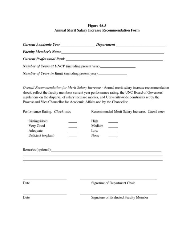 Annual Merit Salary Increase Recommendation Form by rif11145 ...