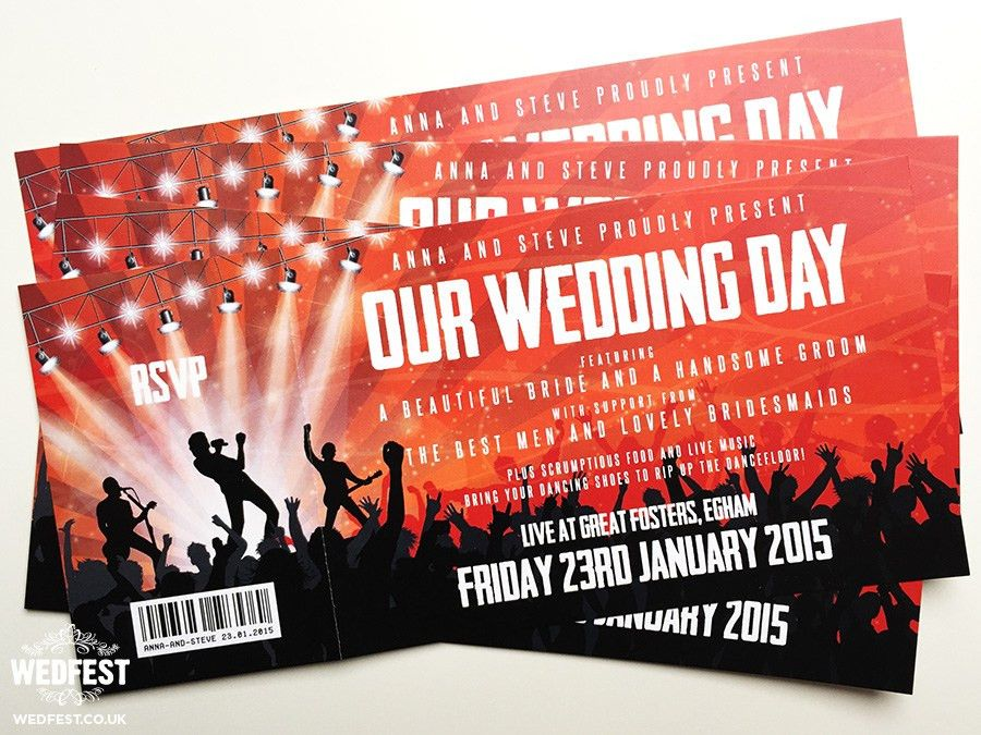 Concert Ticket Wedding Invitations | WEDFEST