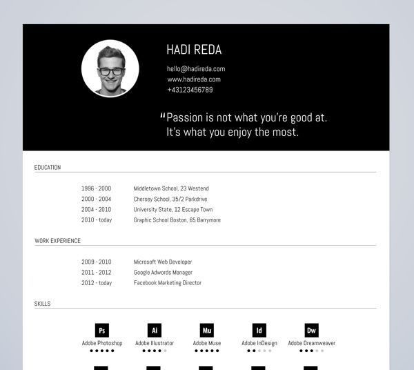 318 best Originele cv's images on Pinterest | Design resume ...
