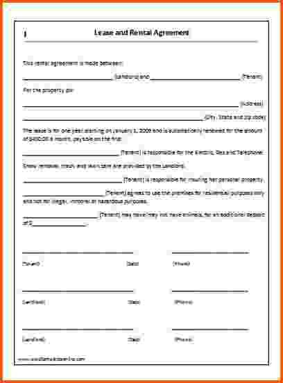 8+ free lease agreement template word   Survey Template Words