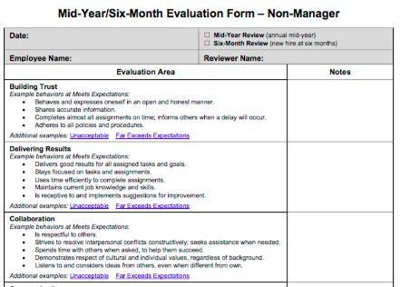 70 fabulous & free employee performance review templates - Uptick