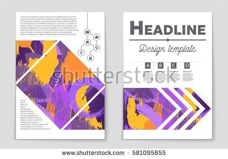 Minimalistic Cover Design Template Creative Concept Stock Vector ...
